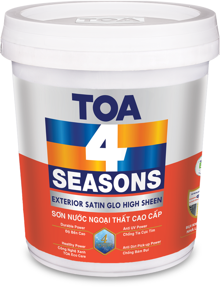 TOA 4 SEASONS EXTERIOR SATIN GLO.HIGH SHEEN